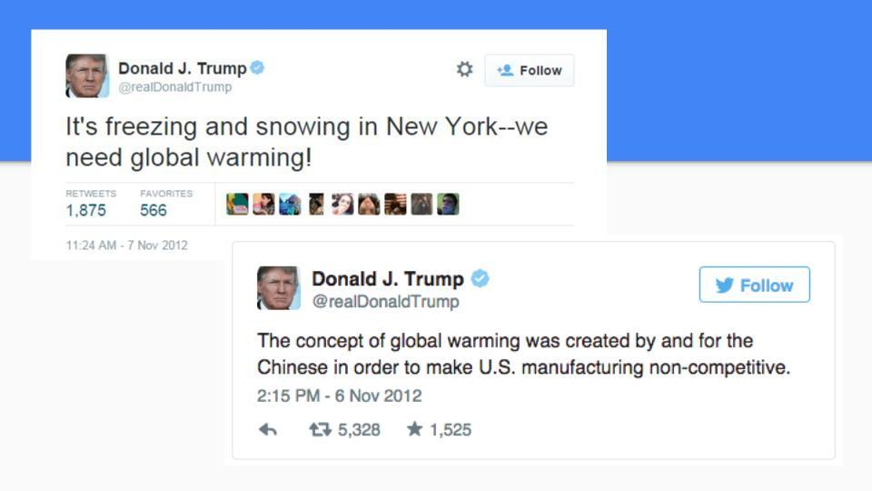 Donald Trump tweets