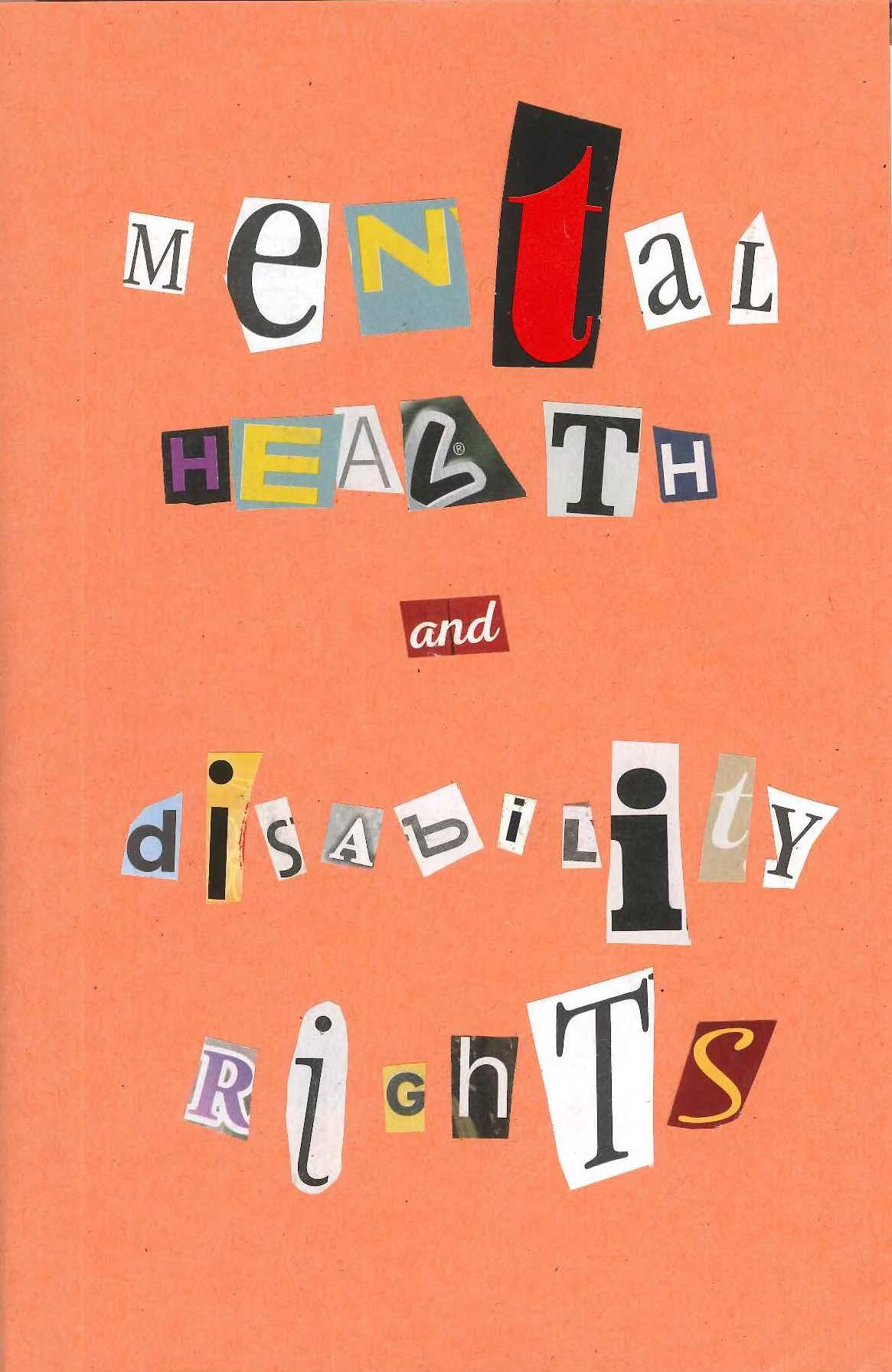 """Mental Health and Disability Rights"" Cover Page of Zine"