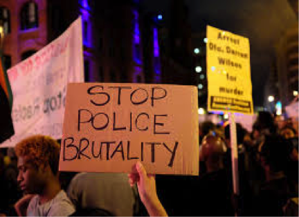 STOP POLICE BRUTALITY PROTESTERS