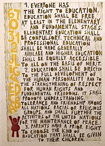 UN Declaration of Human Rights on Education